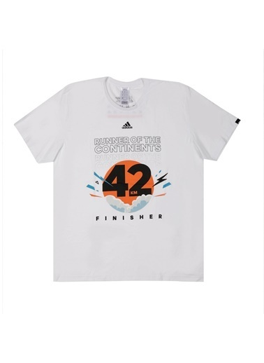 adidas Run 3S Tee M Erkek T-Shirt Oranj
